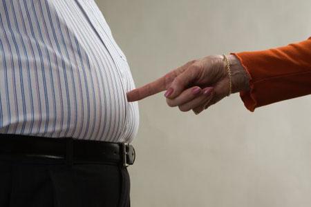 Лишний вес опаснее для мужчин,чем для женщин