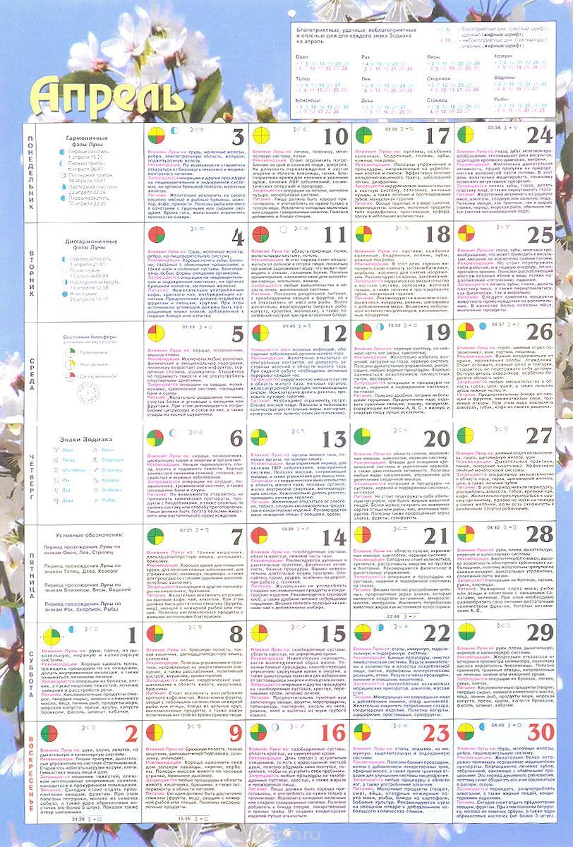 Астрокалендарь здоровья 2017 на каждый день